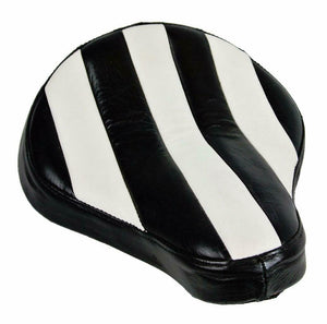 11x13 Spring Seat Black White Stitch Spring Chopper Sporster Dyna Harley Bobber - Mother Road Customs