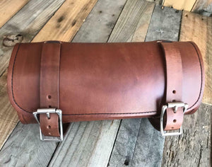 Tool Roll Harley Sportster Softail Chopper Bobber Indian Dyna Honda Brn Leather - Mother Road Customs