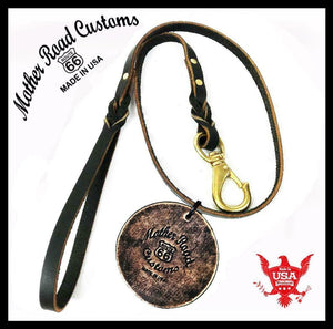 Leather Dog Leash 4' Braided Heavy Duty Dog Leather Leash for Large Medium Small - Mother Road Customs