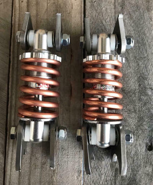 "4"" Copper Plated Coil Over Shock Absorber motorcycle seat springs chopper harley - Mother Road Customs"
