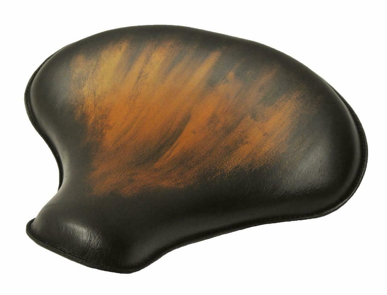 "2017-2020 Triumph Bobber 15x14"" Antique Brown Leather Solo Tractor Seat - Mother Road Customs"