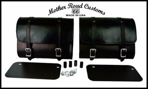 2015-2020 Indian Scout Saddle Bags Mounting Hardware Black Leather Made USA MRC - Mother Road Customs