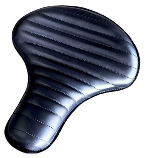 "Spring Solo Tractor Seat Harley Touring Indian Chief 17x16"" Black Tuck R Leather - Mother Road Customs"
