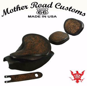 2014-2021 Indian Chief Ant Brn Oak L Spring Seat Mounting Kit Pad Back Rest Bib bs