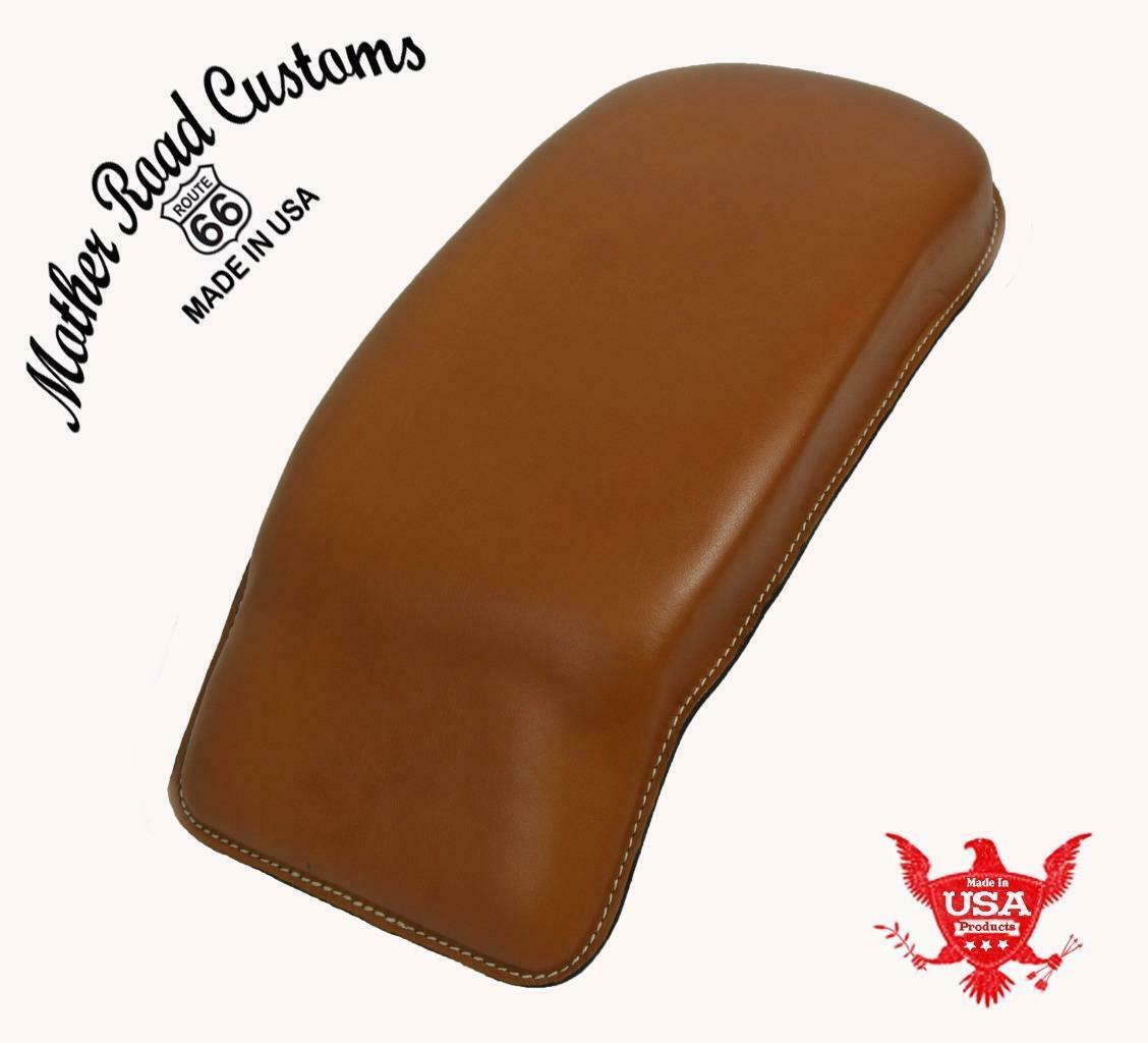 Passenger Pad 1998-2020 Harley Touring Desert Tan Leather Fits All Models MRC - Mother Road Customs