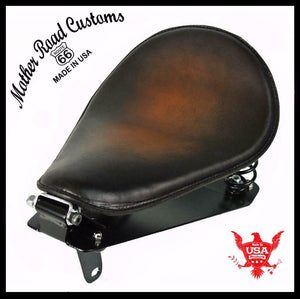 Yamaha Bolt Spring Seat Conversion Kit 2014-2020 Brown Sunburst Leather bcs - Mother Road Customs