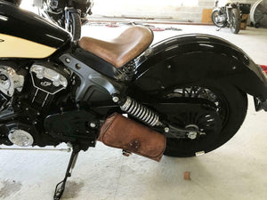 2015-2020 Indian Scout Bobber Swing Arm Saddle Bag  Brown Distressed Leather MRC - Mother Road Customs