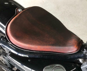 2010-2020 Harley sportster seat Fits All Models On Frame Dark 201 Brown Leather - Mother Road Customs
