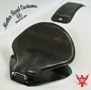 1998-2020 Yamaha V Star 650 Spring Black Dist Leather Seat P-Pad Mounting Kit bc - Mother Road Customs