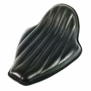 2010-2020 Harley Sportster On The Frame Seat Kick UP Blk Tuck Roll Leather Seat - Mother Road Customs