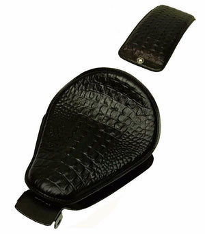 2004-2006  Sportster Harley Seat pad Kit Black Alligator Models Leather  USA bc - Mother Road Customs