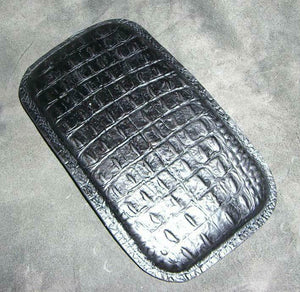 Harley Bobber Seat Passenger Pad Chopper Leather Black Alligator Custom MRC - Mother Road Customs