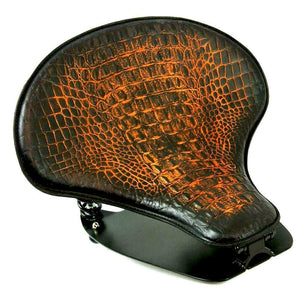 2015-2020 Indian & Bobber Scout Spring Tractor Seat Ant Brown Alligator Kit bc - Mother Road Customs
