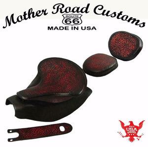2014-20 Indian Chief Ant Red Oak L Spring Seat Mounting Kit Pad Back Rest Bib bs