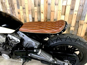 2015-2020 Indian Scout & Bobber Tracker Cafe Fender Eliminator Kit Tan Seat - Mother Road Customs