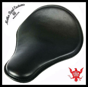 Spring Seat Chopper Bobber Harley Sportster Honda Yamaha 13x15 Black Leather - Mother Road Customs