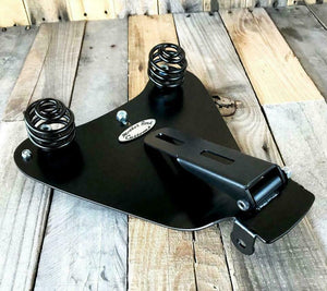 2010-2020 Harley Sportster Spring Solo Seat Black dist tuck Roll P-Pad Chopper
