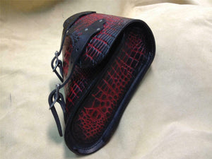 1982-2020 Sportster Saddle Bag Ant Red Alligator Chopper Harley Fits all Models - Mother Road Customs