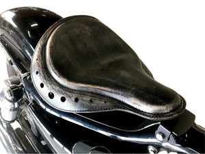 10x13 Black Di Board Track Racer Spring Seat Chopper Bobber Harley Sportster MRC - Mother Road Customs