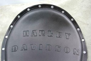 Spring Seat Chopper Harley Davidson Sportster 12x15BK Leather Hand Tooled Rivets - Mother Road Customs