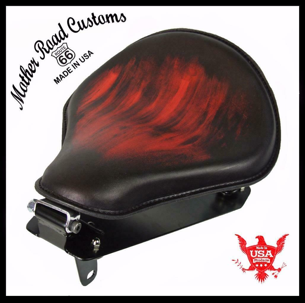 2014-2020 Yamaha Bolt Spring Seat Ant Red Smooth Leather Conversion Kit  bcs
