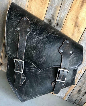 2000-2020 Harley Softail Saddle Bag & Hardtail Motorcycle Black Dis Leather MRC - Mother Road Customs