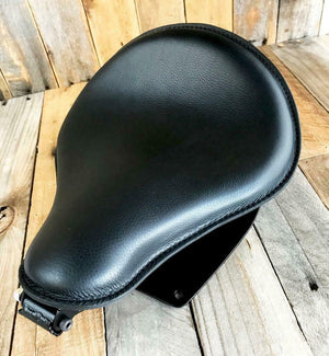2006-2017 Harley Dyna Spring Solo Seat Black Leather Mounting Installation Kit - Mother Road Customs