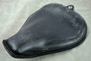 2004-2006 Harley Sportster Seat Black Dist Leather On The Frame Fits All Models - Mother Road Customs