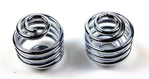 "Chrome  2"" coil motorcycle seat springs chopper harley sportster Honda Bobber - Mother Road Customs"