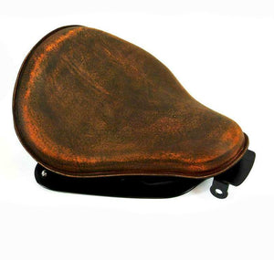 2004-2006 Sportster Harley Seat Conversion Kit 201 Brown Distress Leather bcs - Mother Road Customs