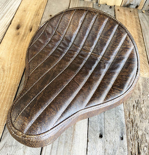 12x13 BrownDis Tuck Roll Seat Chopper Harley Sportster Indian Bobber Bates Style