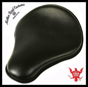 "Spring Seat Chopper Bobber Harley Sportster Honda Yamaha 12x13x1"" Black Leather - Mother Road Customs"