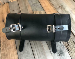 Tool Roll Harley Sportster Softail Chopper Bobber Indian Dyna  Blk Leather MRC - Mother Road Customs