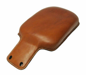 2015-2020 Indian Scout Spring Tractor Seat  Des Tan Leather Passenger Pad P-Pad - Mother Road Customs