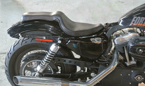 2010-2020 Harley Sportster On The Frame Seat 2 Up Black Distr Leather all Models - Mother Road Customs