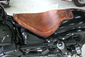 2014-2021 Yamaha Bolt Seat xvs950 R Spec Brown Distressed Leather On The Frame