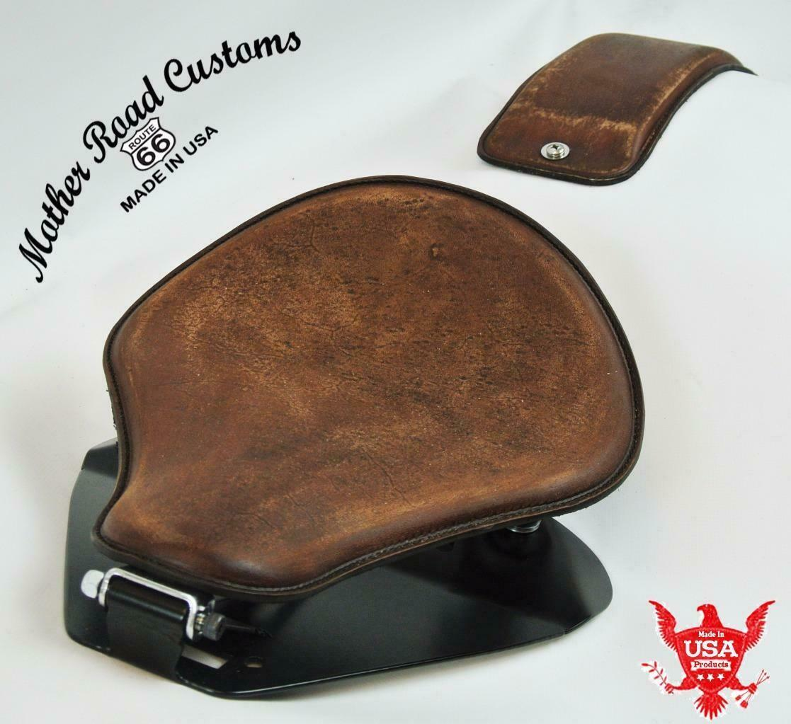 1998-2020 Yamaha V Star 650 Spring Brn Dist Leather Seat P-Pad Mounting Kit bc - Mother Road Customs