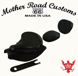2014-2021 Indian Chief Spring Seat Mounting Kit Pad Back Rest Tank Bib Black bs