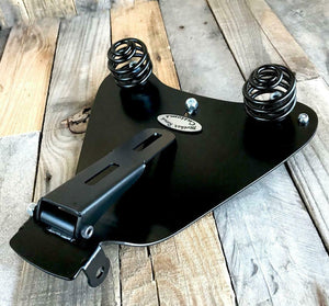 2010-2021 Sportster Harley Seat BrnTuck Roll  Leather Spring Solo  Mount Kit bcs