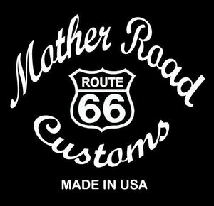 P-Pad Chopper Bobber Harley Sportster Seat Bates Style Black Steel Pan USA Made - Mother Road Customs