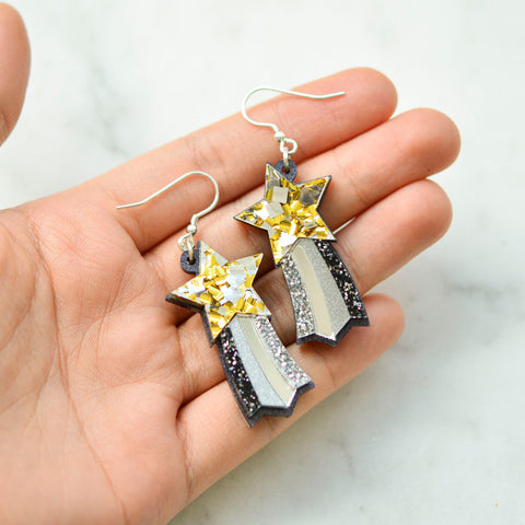 Star Rainbow Dangle Earrings