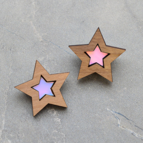 Tiny Sunburst Stud Earrings