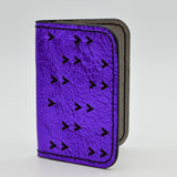 Laser Cut Chevrons Folding Wallet