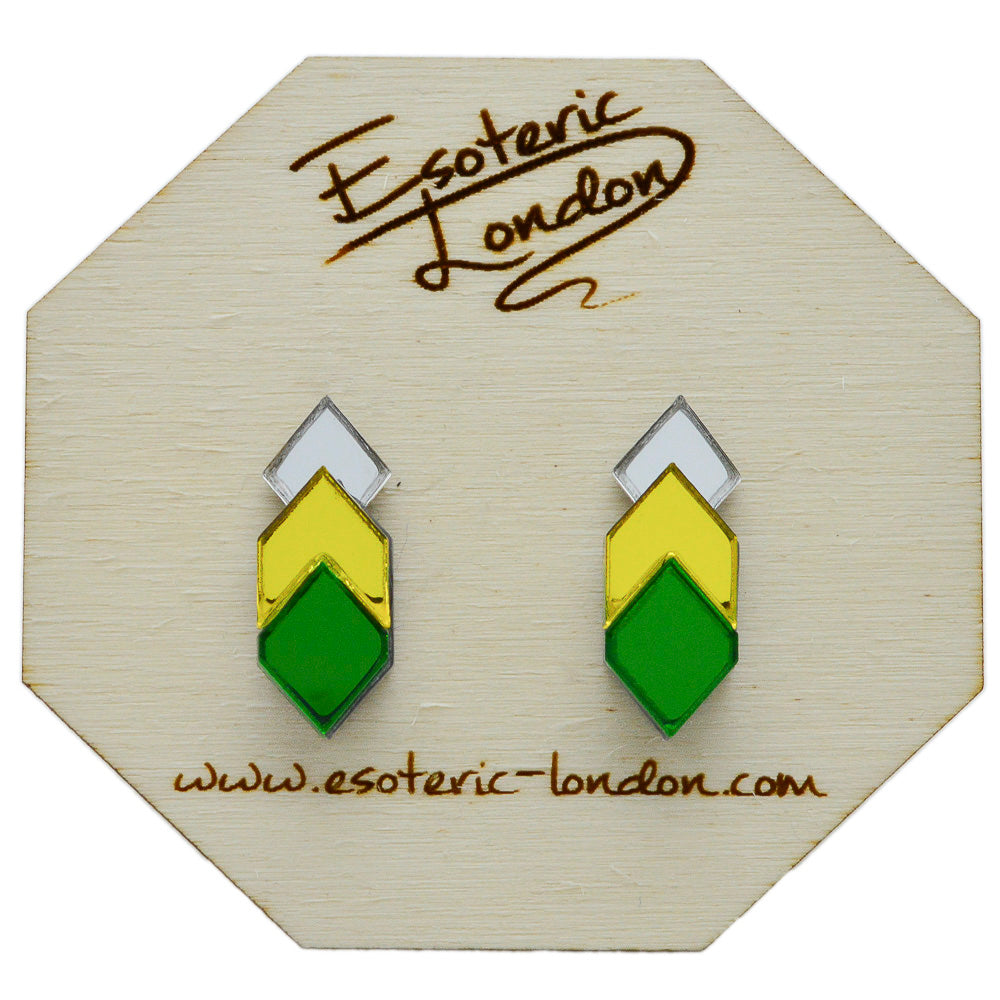 gold stud yellow senco earrings
