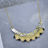 Colour Pop Bib Necklace - Black & Gold