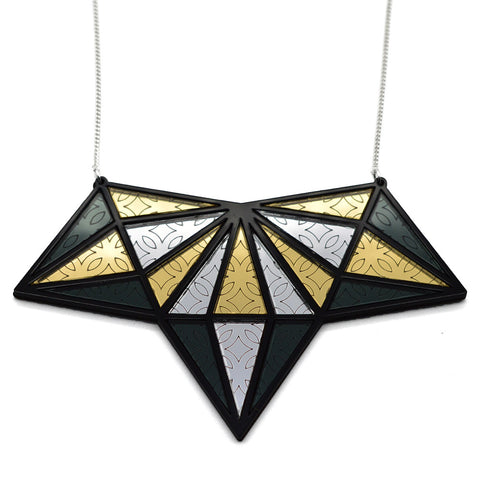 Esoteric London X Paperwilds Collaboration - Marbled Semicircle Necklace Large