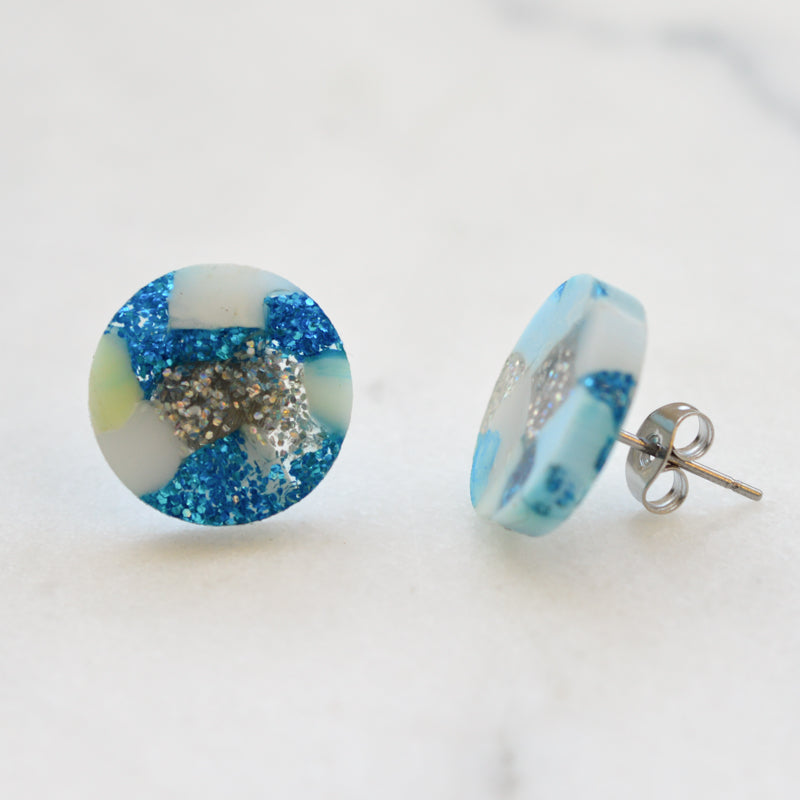 Recycled Dot Stud Earrings