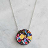 Colour Pop Circle Necklace - Rainbow Confetti