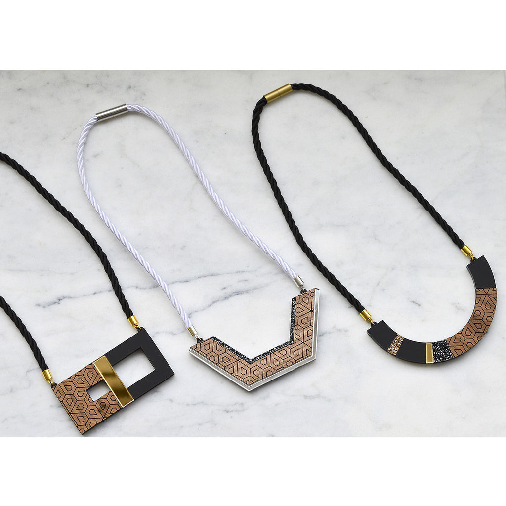 Semicircle Blocks Necklace