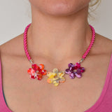 Recycled Acrylic Flower Power Statement Necklace